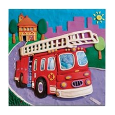 Fire Truck Tile Coaster