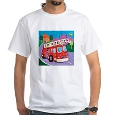 Fire Truck White T-Shirt