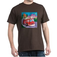 Fire Truck Dark T-Shirt
