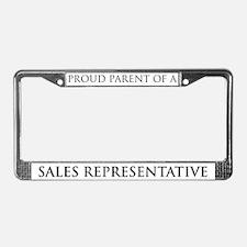Proud Parent: Sales Represent License Plate Frame