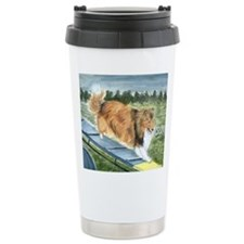 agility sheltie Travel Coffee Mug