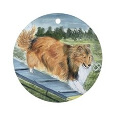 agility sheltie Ornament (Round)