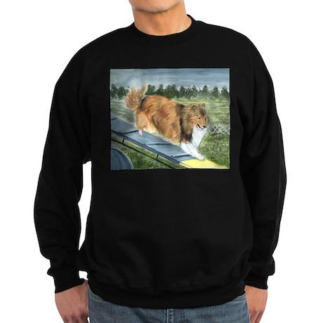 agility sheltie Sweatshirt (dark)