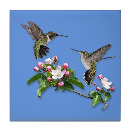 Hummingbirds Tile Coaster