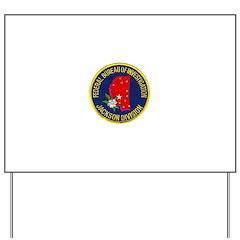 FBI Jackson Division Yard Sign