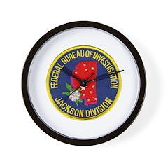 FBI Jackson Division Wall Clock
