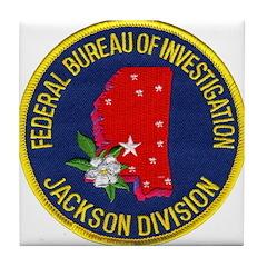 FBI Jackson Division Tile Coaster