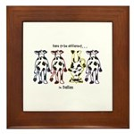 Dare to be Different Cows Framed Tile