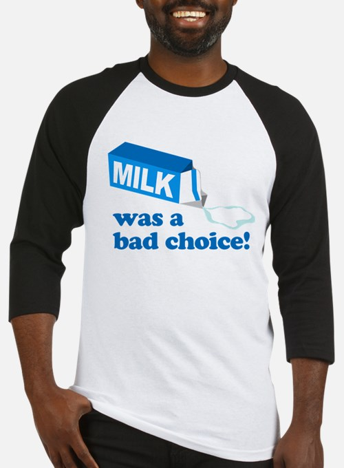 Milk Bad Choice Anchorman Baseball Jersey