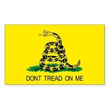 Tea Party Gadsden flag Patriotic Sticker Rectangle