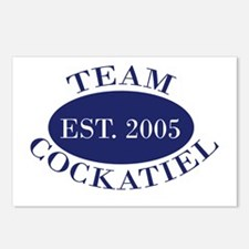 Team Cockatiel Est. 2005 Postcards (Package of 8)