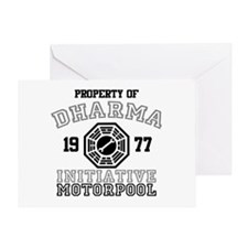 Dharma Initiative - Motorpool Greeting Card