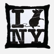 I Rat Love New York NY Throw Pillow