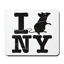 I Rat Love New York NY Mousepad