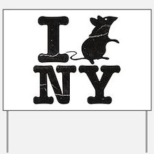 I Rat Love New York NY Yard Sign