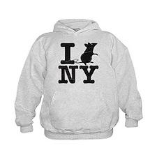 I Rat Love New York NY Hoodie