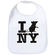 I Rat Love New York NY Bib