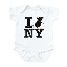 I Rat Love New York NY Infant Bodysuit