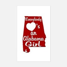 Everybody Loves an Alabama Gi Sticker (Rectangle)