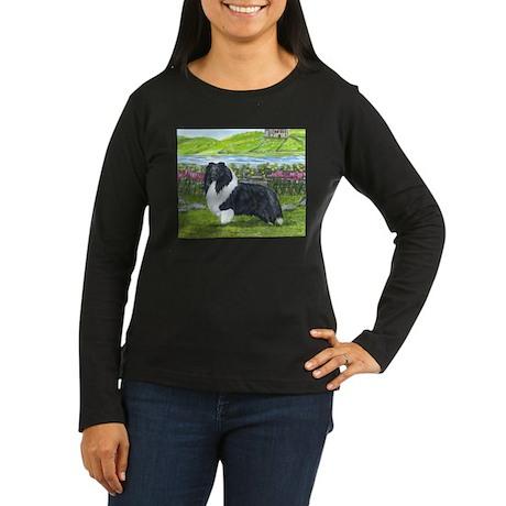 Bi Black Sheltie Women's Long Sleeve Dark T-Shirt