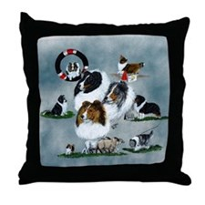 The Versatile Sheltie Throw Pillow
