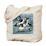 Shetland sheepdog Canvas Totes