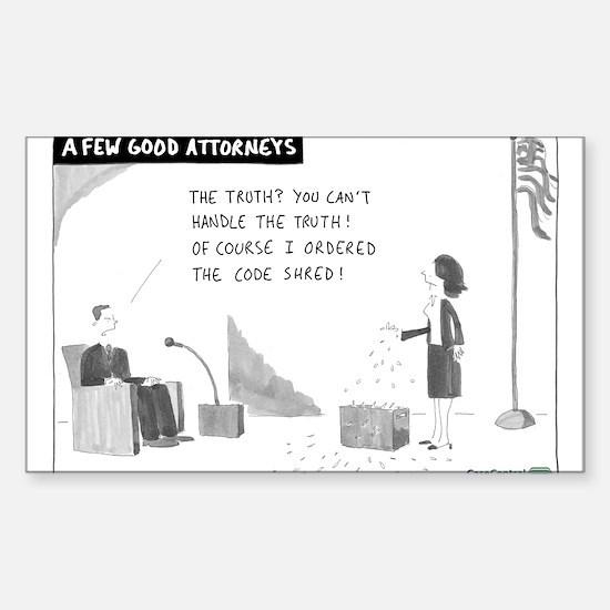 A Few Good Attorneys Sticker (Rectangle)