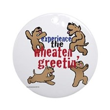 Wheaten Greetin' Ornament (Round)