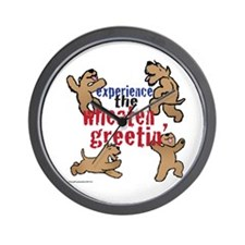 Wheaten Greetin' Wall Clock
