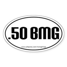 .50 BMG Oval Decal