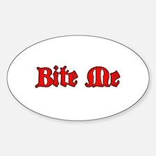 Bite Me Sticker (Oval)