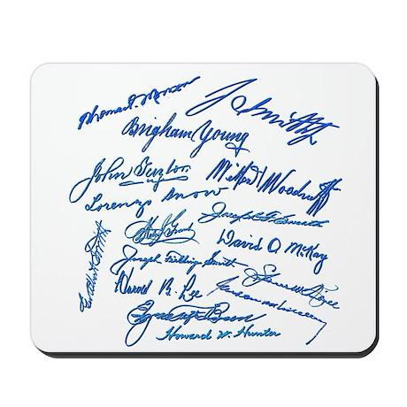 LDS Prophets Autographs Mousepad