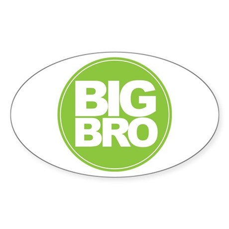 big brother simple circle shirt Sticker (Oval)