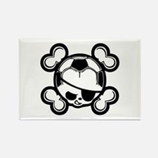 Soccer Kid Pirate Rectangle Magnet