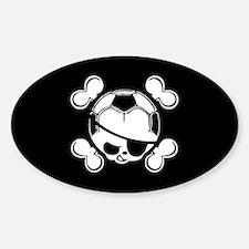 Soccer Kid Pirate Sticker (Oval)