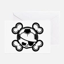 Soccer Kid Pirate Greeting Cards (Pk of 10)