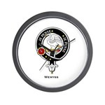 Wemyss Clan Crest Wall Clock