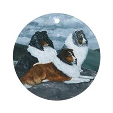 Shelties in the Mist Ornament (Round)