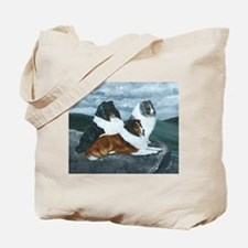 Shelties in the Mist Tote Bag