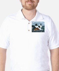 Shelties in the Mist Golf Shirt
