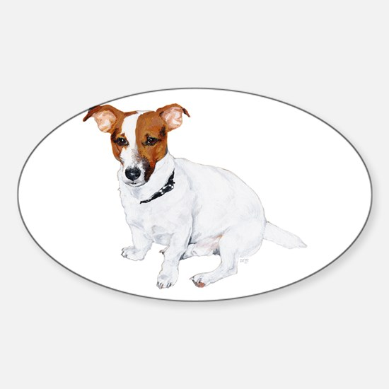 Jack Russell Painting Sticker (Oval)