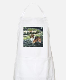 Sable Sheltie with Sheep Apron