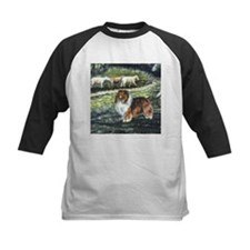Sable Sheltie with Sheep Tee