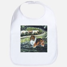 Sable Sheltie with Sheep Bib