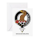 Wedderburn Clan Crest Greeting Cards (Pk of 10
