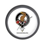 Wedderburn Clan Crest Wall Clock