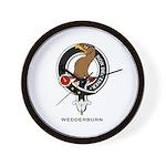 Wedderburn Clan Crest Wall Clock