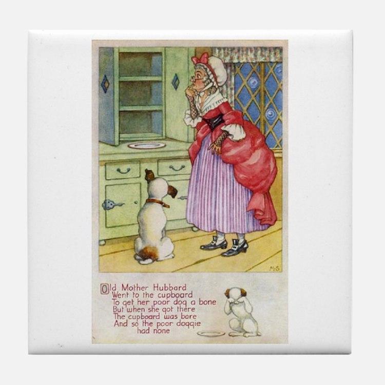 Old Mother Hubbard, #1 Tile Coaster