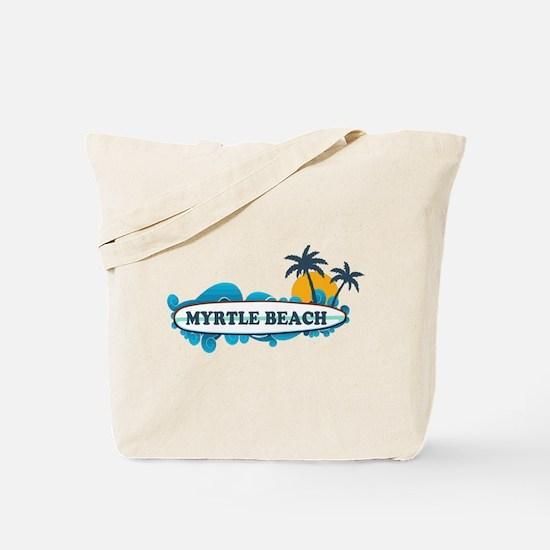 Myrtle Beach - Surf Design Tote Bag