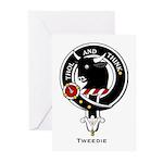 Tweedie Clan crest Greeting Cards (Pk of 10)